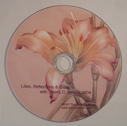 Lilies, Reflections & Glass - $19.95
