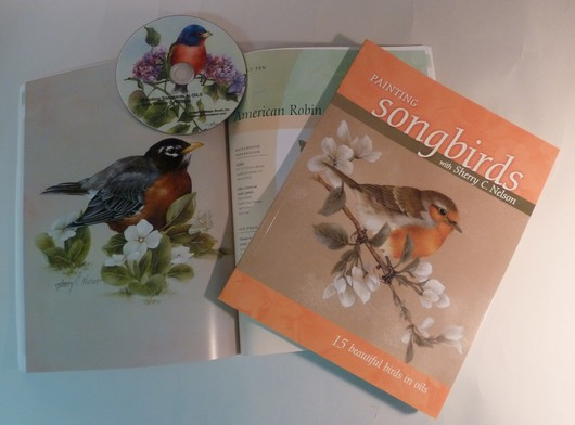 Bunting & Robin in Painting Songbirds demo - $19.95